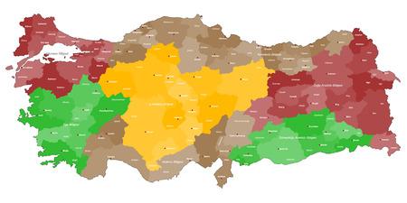 유럽: 터키의 상세지도