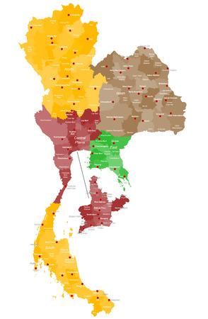 タイの詳細地図