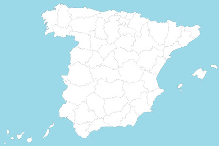 political division: Map of Spain