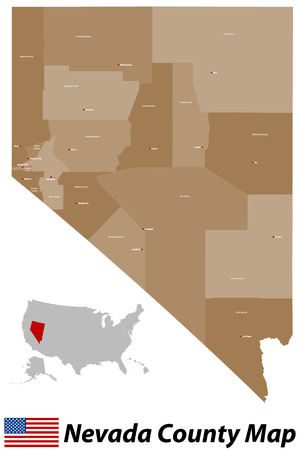 county: Nevada County Map