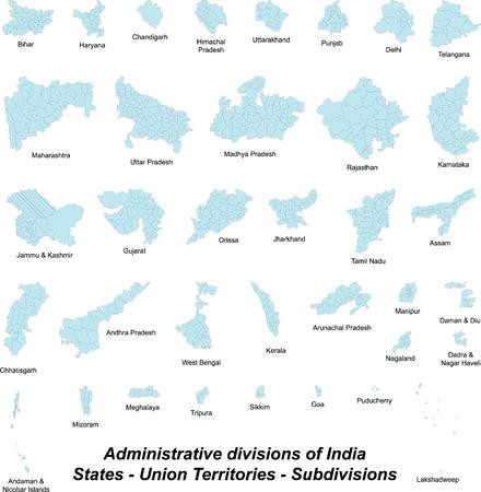 Tous subdivions de l'Inde Banque d'images - 32868995