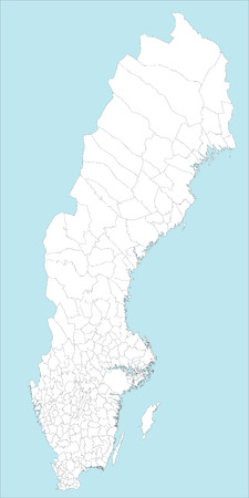 A large and detailed map of Sweden with all regions, main cities and islands.