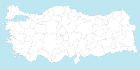 すべての地域や主要都市および島とトルコの大規模かつ詳細な地図。