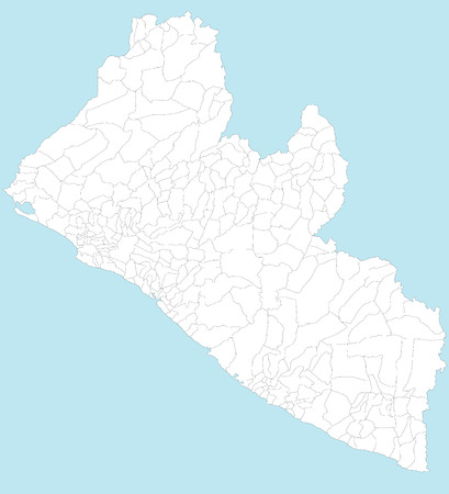 gee gee: A large and detailed map of Liberia with all local counties and districts.