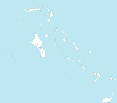bahamas: A large and detailed map of the Bahamas with all islands and local districts.