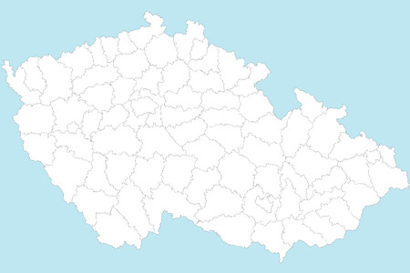 areas: A large and detailed map of Czech Republic with all areas, chiefdoms and cities.