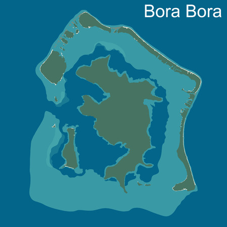 bora: A large and detailed map of Bora Bora