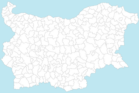 kelet európa: A large and detailed map of Bulgaria with all provinces, regions and oblasts.