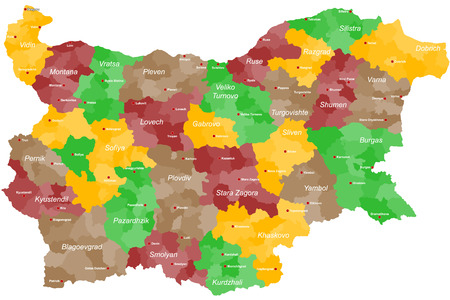 A large and detailed map of Bulgaria with all provinces, regions and main cities.