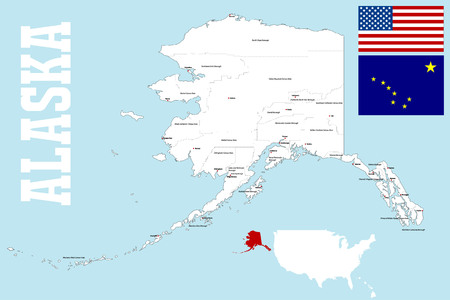 wade: A large and detailed map of the State of Alaska.