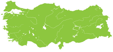bursa: A large and detailed map of Turkey