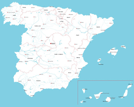 majorca: Large and detailed map of Spain
