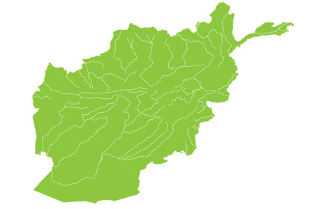 taliban: Large and detailed map of Afghanistan Illustration