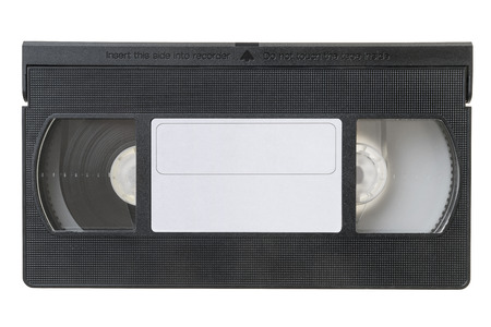 video cassette tape: Large picture of an old video Cassette tape on white background Stock Photo
