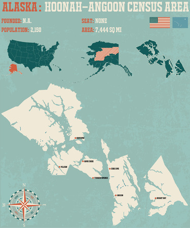 census: Large and detailed infographic of the Hoonah-Angoon Census Area, Alaska