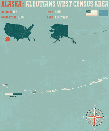 census: Large and detailed infographic of the Aleutians West Census Area, Alaska