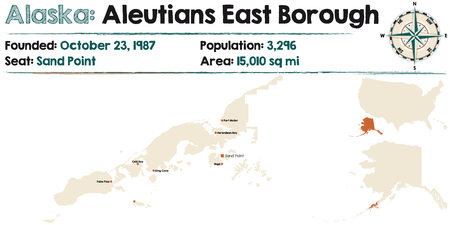Large and detailed map of Aleutians Eastborough in Alaska