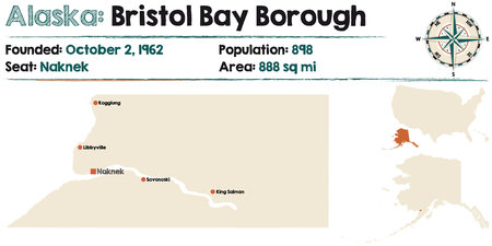 Large and detailed map of Bristol Bay Borough in Alaska