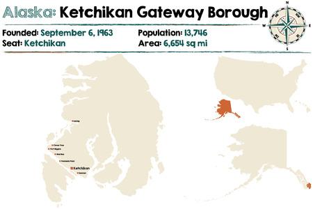 Large and detailed map of Ketchikan Gateway Borough in Alaska