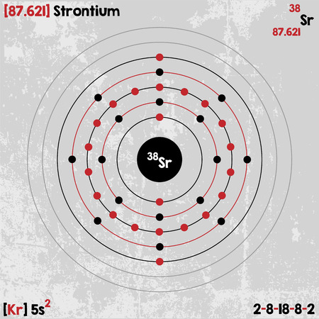 strontium: Large and detailed infographic of the element of strontium. Illustration