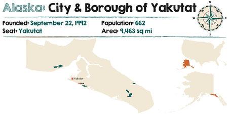 Large and detailed map of Yakutat City and Borough of Alaska