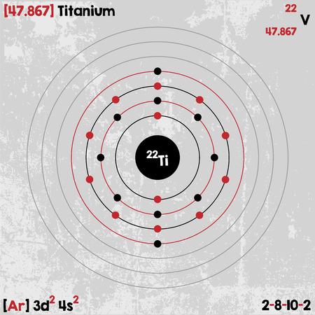 티타늄 요소의 크고 상세한 인포 그래픽 일러스트