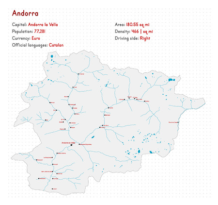 Detailed map and infographic of Andorra