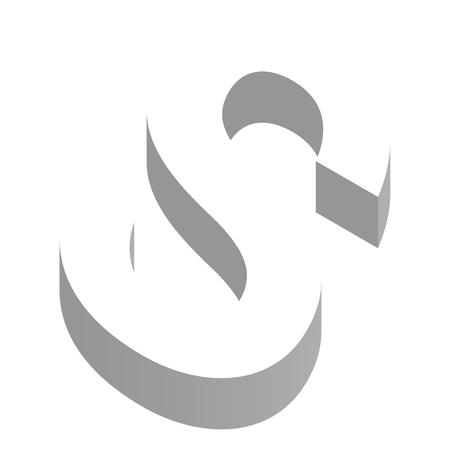 Der Buchstabe S in dreidimensionaler Ansicht