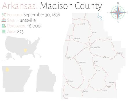 Large and detailed map of Madison County in Arkansas, USA on madison washington map, northwest county map, madison va map, madison al map, stewart county map, long county map, grainger county map, early county map, letcher county map, bremer county map, chesapeake county map, tennessee map, west orange county map, madison village map, sweet grass county map, travel indiana county map, madison elevation map, elliott county map, chariton county map, warwick county map,