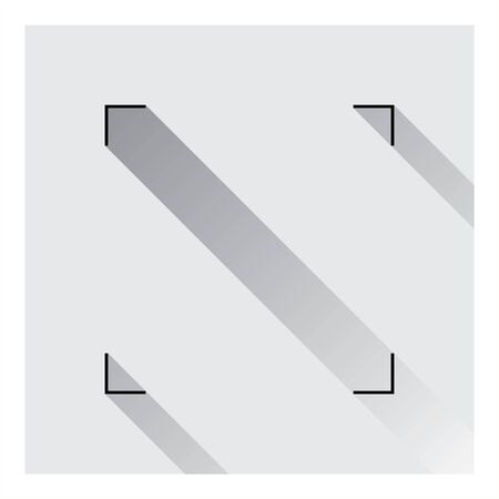 Geometrical square icon in gray color with shadow