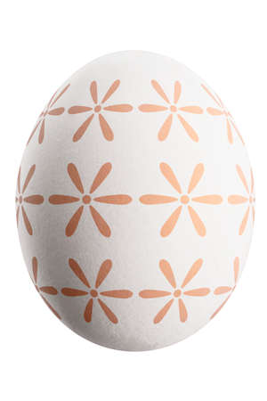 Large picture of an isolated easter egg with a floral pattern. Banco de Imagens