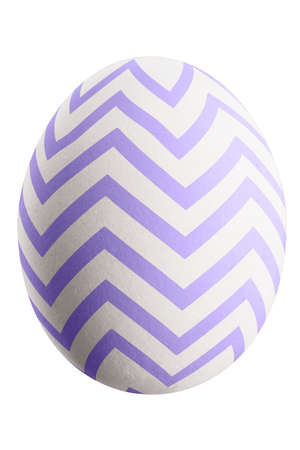 Large picture of an isolated easter egg with a stripes pattern. Banco de Imagens