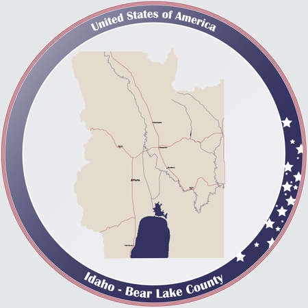 Large and detailed map of Bear Lake county in Idaho, USA.