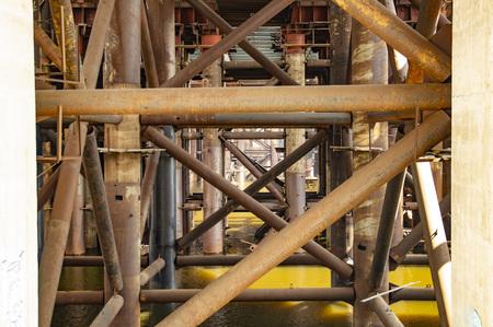 Large bridge under construction across the Dnieper River in Kiev Ukraine Reklamní fotografie