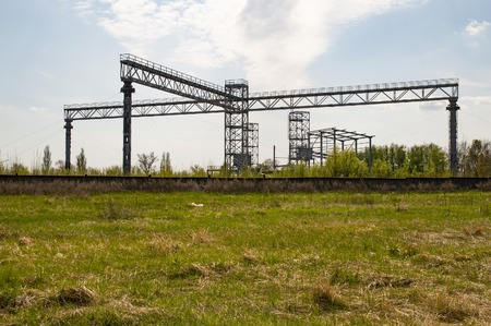 Industrial frame construction in the open air - industry