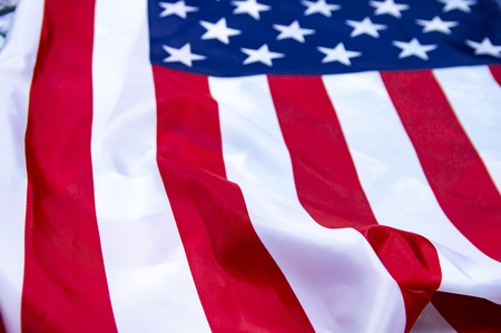 Flag of the United States of America. American Flag Day. USA Independence Day. Place for writing text.
