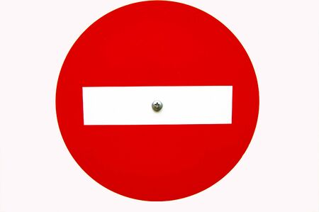 Traffic is prohibited - road sign on a white background. Place for the text.
