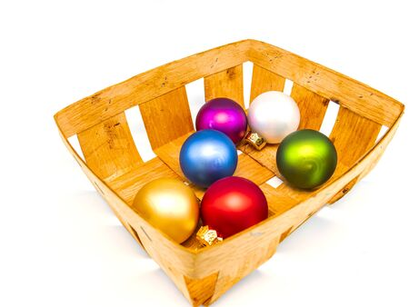 Christmas toys on a white background with place for text. New Year. Free place. Christmas holidays.