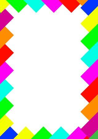 Modèle pour l'abstraction vectorielle de texte de formes colorées. Place pour le texte. Abstraction. Image de fond. Affiche. Publicité sur le panneau d'affichage. Cadre photo.