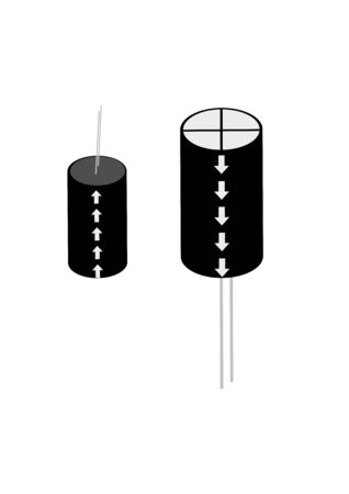 Electronic components electrolytic capacitor template for text. Electronics repair. Repair of household appliances. Transistors and capacitors. Resistors and microcircuits. Poster.