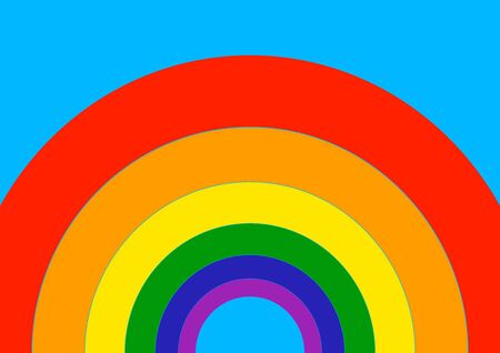 Flag in the colors of the rainbow of menhns. Lisbians. Homosexuals. Bisexual Symbol of masculinity. Symbol of the feminine. Template for text. Poster. Gay sex. Same-sex marriage. Pride.