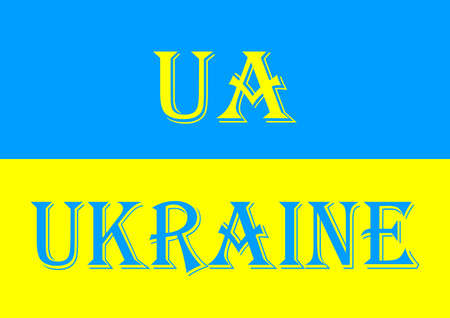 The national flag of Ukraine is yellow and blue.