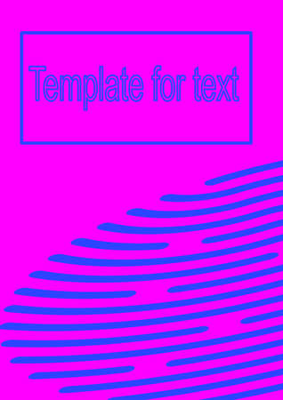 Blue stripes on a pink background abstract vector template for text. Vettoriali