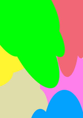 Spots of colored paint abstract vector template for text.