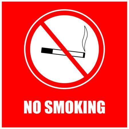 A sign prohibiting smoking cigarettes in a public place. Illusztráció