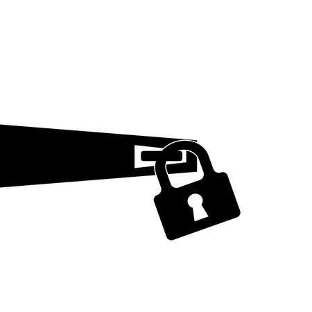 Padlock with keyhole for doors vector image. Illusztráció