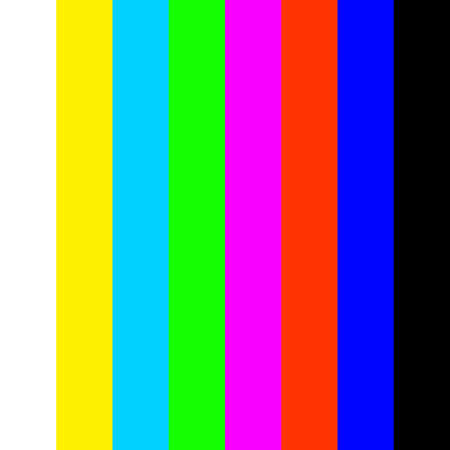Colored vertical stripes on the TV screen.