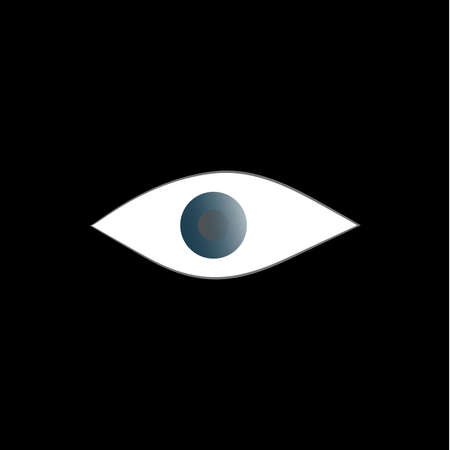 Abstract human eye on a black background. Human gaze from the dark. The pupil of the eye. Abstract image. Vector. Background image. Template with place for text. Poster. Booklet.