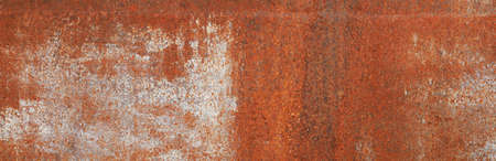 Rusty iron surface texture in white paint. Corrosion of metal. Corrosive iron. Aging of metal. Retro style. Background image. Template for text. Cracked white paint. Stock fotó