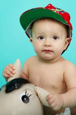 Sweet cute little boy photo